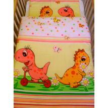9 Hónap - 2 részes baba ágynemű - Rózsaszín dínó