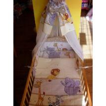 9 Hónap - 4 részes bébi ágynemű - Krém szafari