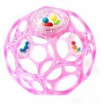 OBALL RATTLE játék 10 cm, 0 hó+ Rózsaszín