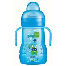 Mam Trainer tanulópuhár -extra puha ivócsőrrel és plusz egy csepegés mentes etetőfejjel- Blue