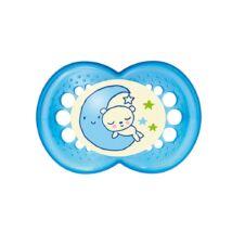 Mam Night szilikon cumi 6+ hónap Kék hold