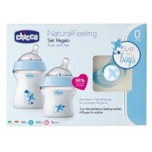 Chicco NaturalFeeling ajándékszett - Babakék
