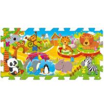 Állatkerti móka szivacs puzzle -  8 db-os