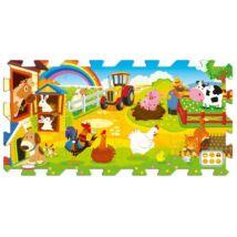 Oktató nagyméretű szivacs puzzle - A farmon 8 db