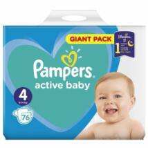 Pampers Active Baby Pelenka Giant Pack 4 Maxi - 76 db