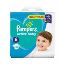 Pampers Active Baby  Pelenka Giant Pack 6 Junior+ - 56 db