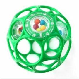 OBALL RATTLE játék 10 cm, 0 hó+ Zöld