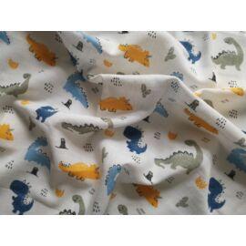 Textilpelenka Dínó mintával - 2 db-os szett