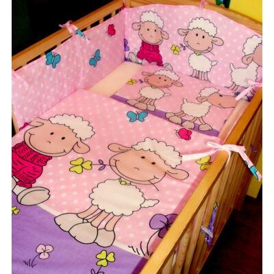 9 Hónap - 3 részes bébi ágynemű -  Rózsaszín/lila Barika