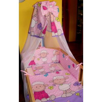 9 Hónap - 4 részes bébi ágynemű - Rózsaszín/lila Barika