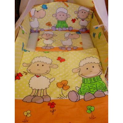 9 Hónap - 3 részes baba ágynemű  - Narancs barika
