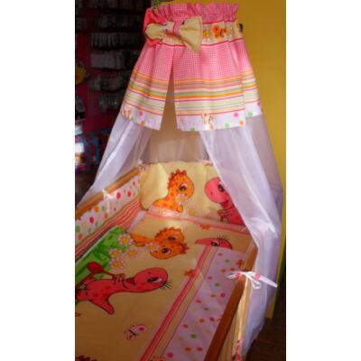 9 Hónap - 4 részes bébi ágynemű - Dínós rózsaszín