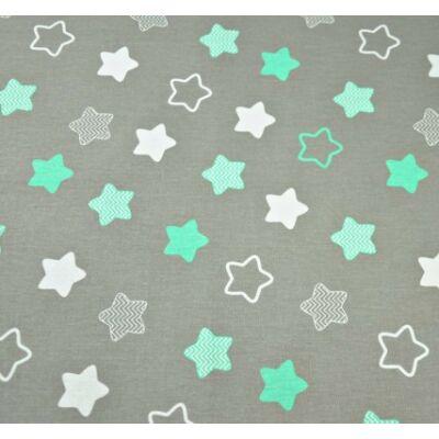 9 Hónap - 4 részes bébi ágynemű  -  Menta csillag