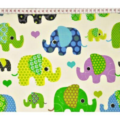Ovis-gyermek ágynemű huzat - Zöld elefánt