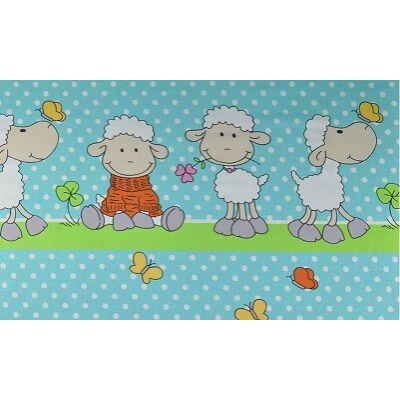 Ovis-gyermek ágynemű huzat - kék bárány - flanel