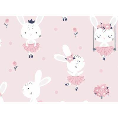 Ovis-gyermek ágynemű huzat -Rózsaszín nyuszik