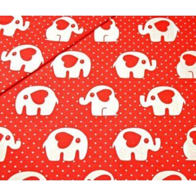 9 Hónap - 4 részes bébi ágynemű  -  Piros elefánt