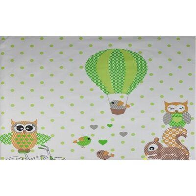 Ovis-gyermek ágynemű huzat - zöld bagoly