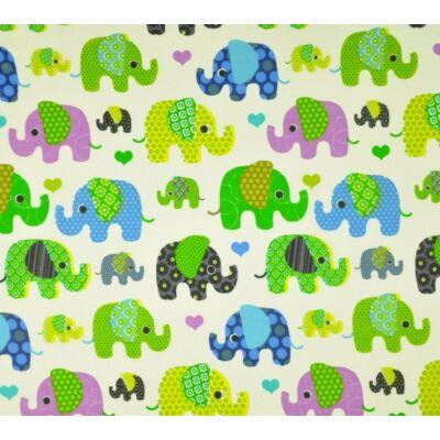 9 Hónap - 3 részes bébi ágynemű  - Zöld elefánt
