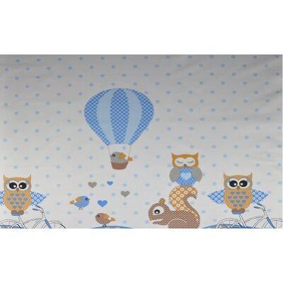 Ovis-gyermek ágynemű huzat - kék bagoly