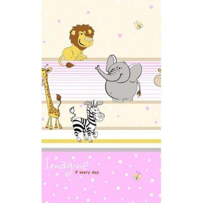 Ovis-gyermek ágynemű huzat - pink szafari