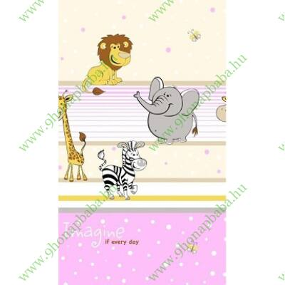 Ovis ágynemű szett - Pink szafari