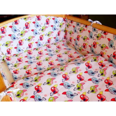 9 Hónap - 3 részes bébi ágynemű -  Színes papagájok