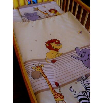 9 Hónap - 2 részes baba ágynemű - Krém szafari