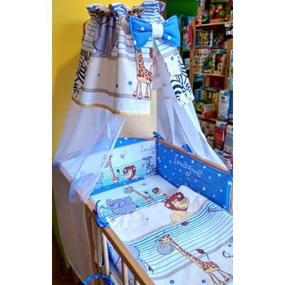 9 Hónap - 4 részes baba ágynemű - Kék szafari