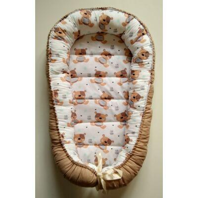 XL többfunkciós babafészek - Teddy macim