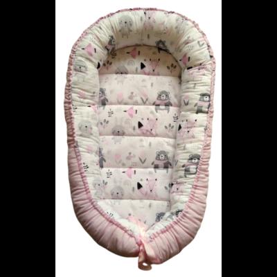 XL többfunkciós babafészek - Púder nyuszi