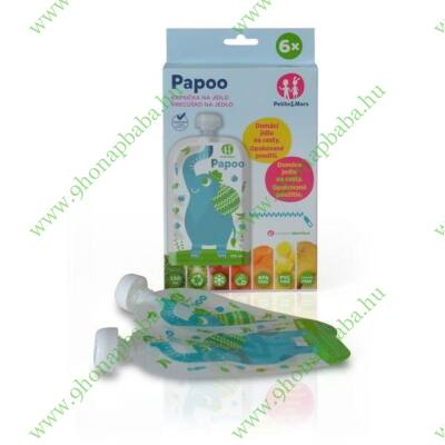 P&M Papoo tasak bébiételekhez elefánt 6 db