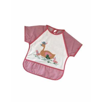 Baby Bruin Frottir etetőkabát ujjas,műanyag hátfallal 1 db pink