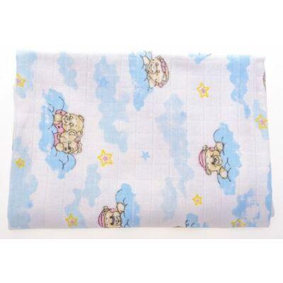 Babybruin mintás Tetra kifogó 90×100 cm Felhős maci