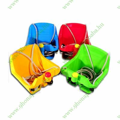 Támlás hinta dudával 1 db - kék, piros, zöld vagy sárga színben