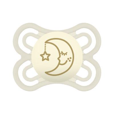 Mam Perfect night szilikon 0-6 hónap sterilizáló dobozzal - sárga hold