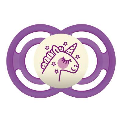 Mam Perfect night szilikon 6+ hónap sterilizáló dobozzal - Unikornis
