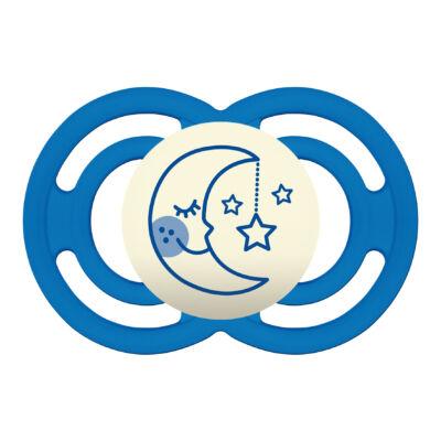 Mam Perfect night szilikon 6+ hónap sterilizáló dobozzal - Kék hold