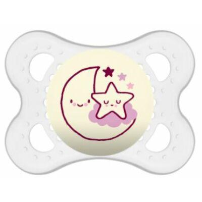 Mam Night szilikon cumi 2-6 hónap Pink hold/csillag