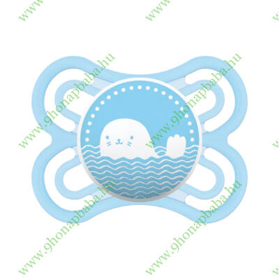 Mam Perfect szilikon 2-6 hónap sterilizáló dobozzal - kék Fóka