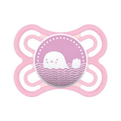 Mam Perfect szilikon 2-6 hónap sterilizáló dobozzal - pink Fóka