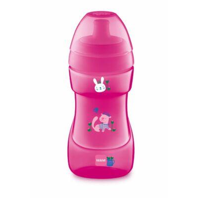 Mam Sport Cup itatópohár 330 ml szeleppel Pink