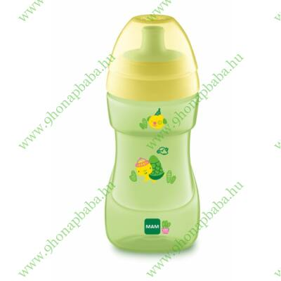 Mam Sport Cup itatópohár 330 ml szeleppel Zöld