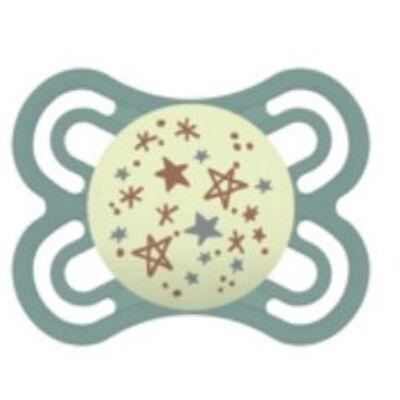 Mam Perfect night szilikon 2-6 hónap sterilizáló dobozzal - csillagok