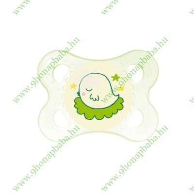 Mam Night szilikon cumi 2-6 hónap zöld csibe