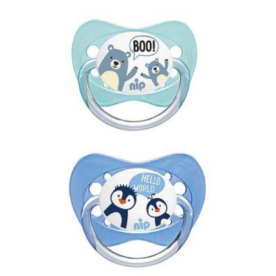 Nip Family - 2 db-os cumi ortodontikus szilikon 2-es méret  - Maci/Pingvin