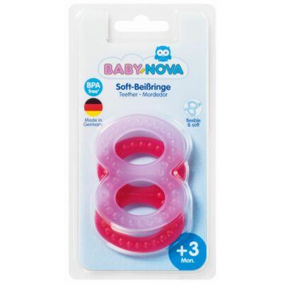 Baby-Nova 8-as rágóka 2 db-os - lányos