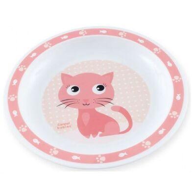 Canpol műanyag lapostányér, mikrózható - cica