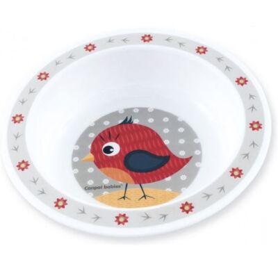 Canpol műanyag mélytányér, mikrózható - madárka