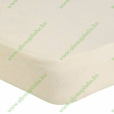 Strech gumis lepedő 100% pamut krém